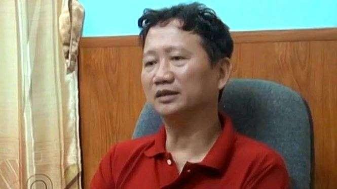 Ông Trịnh Xuân Thanh. Ảnh cắt từ clip của VTV