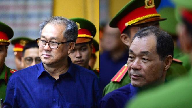 Ông Trầm Bê (bên phải), và ông Phạm Công Danh (bên trái) - hai bị can chính trong vụ án. Ảnh: VNN