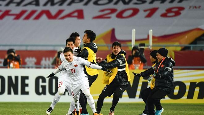 Người hùng Quang Hải của U23 Việt Nam. Ảnh cắt từ clip