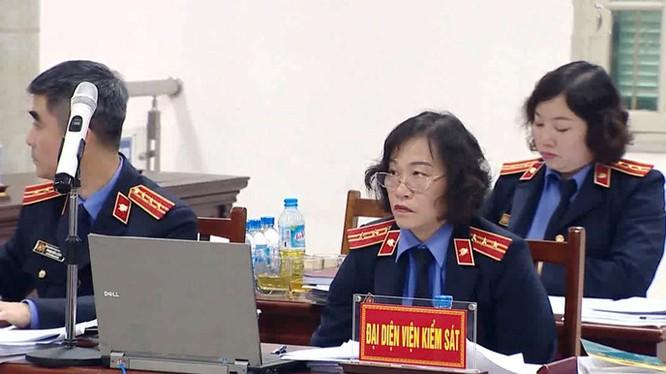 Đại diện VKS tại phiên tòa. Ảnh: TTXVN