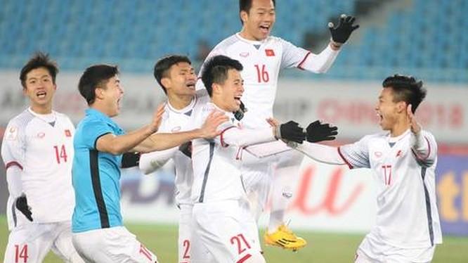 Đội tuyển U23 Việt Nam được tặng Huân chương Lao động hạng Nhất. Ảnh: TTVH