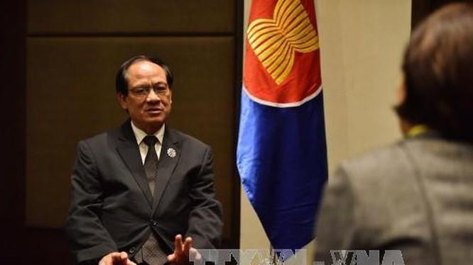 ông Lê Lương Minh - Thứ trưởng Bộ Ngoại giao đang biệt phái làm Tổng Thư ký Hiệp hội các quốc gia Đông Nam Á (ASEAN). Ảnh: TTXVN