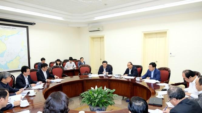 Thủ tướng tại cuộc họp về vốn ODA sáng 8/3/ Ảnh: VGP