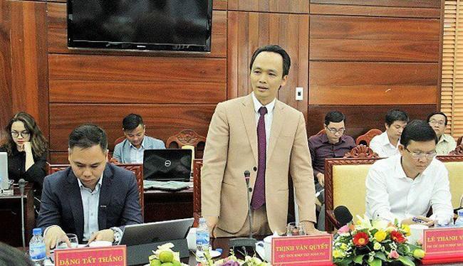 Ông Trịnh Văn Quyết - Chủ tịch FLC. Ảnh: Báo Quảng Ngãi