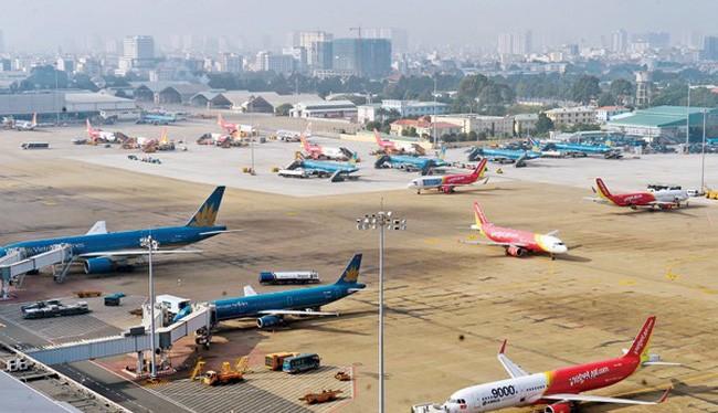 Sân bay Tân sơn nhất sẽ được mở rộng về cả phía Nam và phía Bắc. Ảnh: VTV