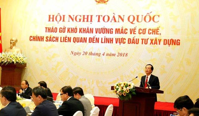 Bộ trưởng Bộ Xây dựng Phạm Hồng Hà phát biểu tại Hội nghị. Nguồn: xaydung.gov.vn