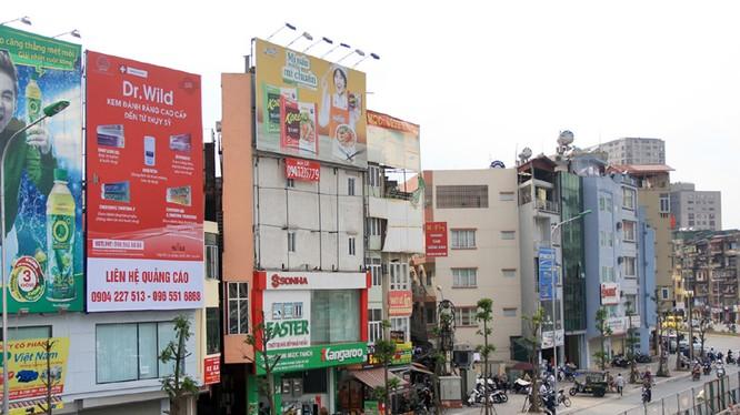 """Một ngôi nhà """"siêu mỏng"""" trên đường Trường Chinh (quận Thanh Xuân). Ảnh:Hà Nội mới"""