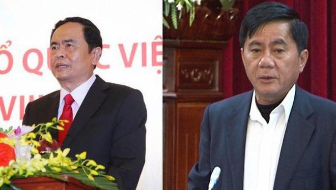 Ông Trần Thanh Mẫn và ông Trần Cẩm Tú. Nguồn: thaibinh.gov.vn và UBNTTUW