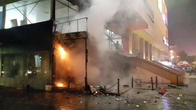 Vụ cháy chung cư Hồ Gươm Plaza, (đường Trần Phú , Hà Đông, Hà Nội) ngày 26/11/2017. Ảnh: Vneconomy