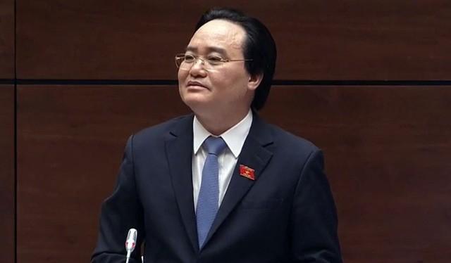 Bộ trưởng GDĐT Phùng Xuân Nhạ. Ảnh: VTV