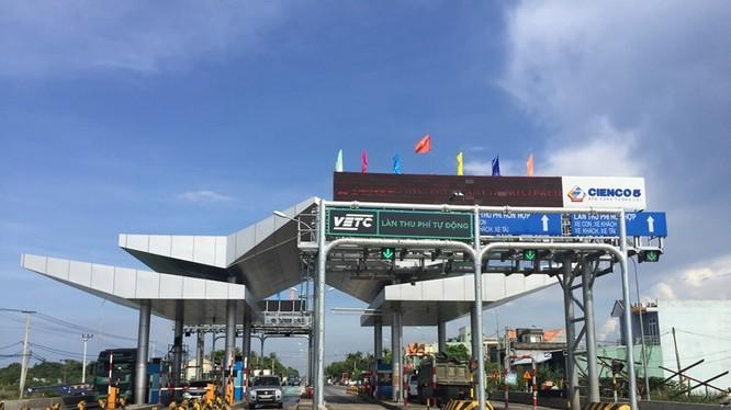 Trạm thu phí Tam Kỳ (Quảng Nam). Ảnh: VGP