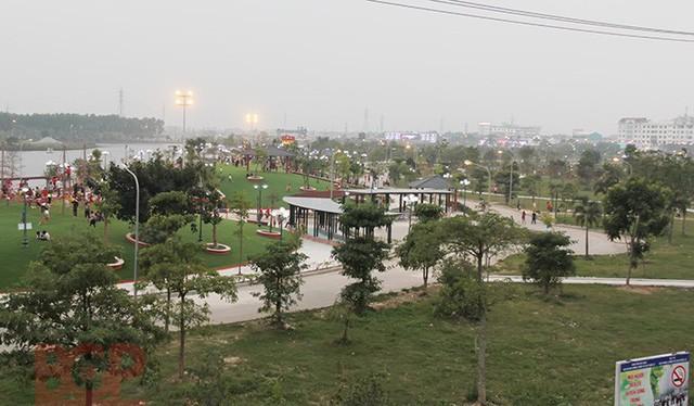 Sân tập golf xây trên đất quy hoạch công viên Hoàng Hoa Thám ở Bắc Giang. Ảnh: Đầu tư