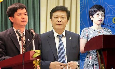 Từ trái qua: Ông Lê Quang Tùng, ông Nguyễn Duy Thăng và bà Nguyễn Thị Phú Hà. Ảnh: VGP