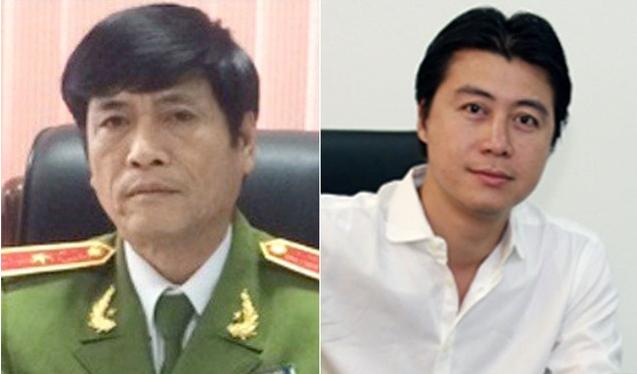 Cựu Thiếu tướng Nguyễn Thanh Hóa và Cựu Chủ tịch HĐQT VTC Online Phan Sào Nam - hai bị can trong vụ án. Ảnh: CAND