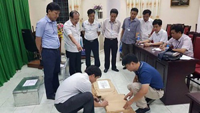 Tổ công tác kiểm tra tại tỉnh Hà Giang. Ảnh: CAND