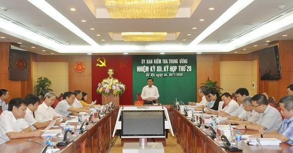 Kỳ họp thứ 28 của Ủy ban Kiểm tra Trung ương. Nguồn: Ủy ban Kiểm tra Trung ương.