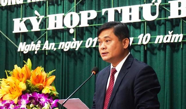 Tân Chủ tịch UBND tỉnh Nghệ An Thái Thanh Quý. Ảnh: Dân trí