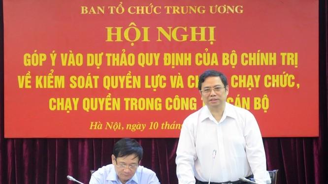 Ông Phạm Minh Chính - Ủy viên Bộ Chính trị, Bí thư Trung ương Đảng, Trưởng Ban Tổ chức Trung ương Đảng. Nguồn: dangcongdan.vn