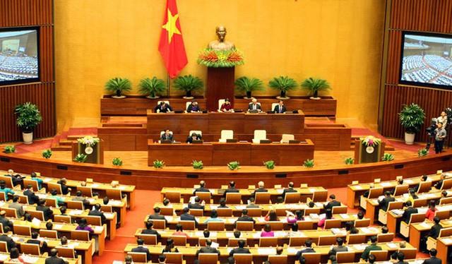 Khai mạc kỳ họp thứ 6, Quốc hội khóa XIV. Nguồn: VGP