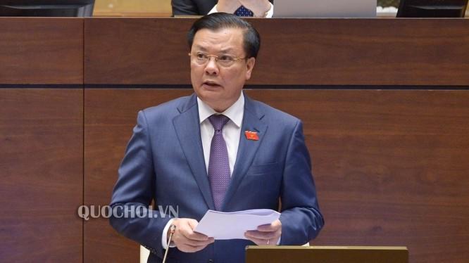 Bộ trưởng Tài chính Đinh Tiến Dũng. Nguồn: quochoi.vn