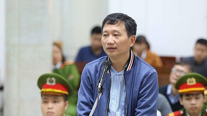 Bị can Trịnh Xuân Thanh trước tòa. Nguồn: Dân trí