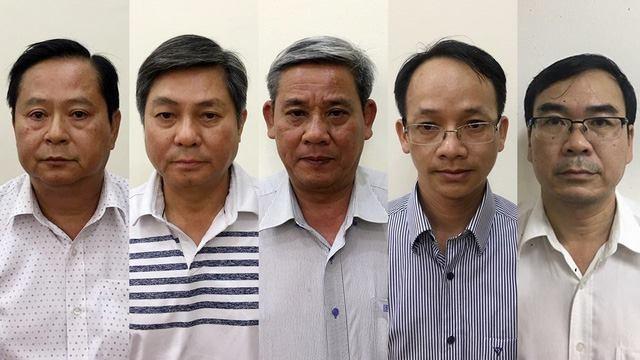 5 bị can vừa bị khởi tố. Nguồn: Bộ Công an