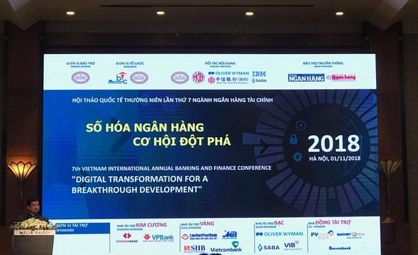 """Hội thảo quốc tế """"Số hóa ngân hàng - Cơ hội đột phá"""" tổ chức tại Khách sạn Melia"""