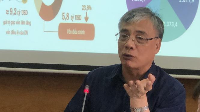 TS Trần Đình Thiên chia sẻ các cơ hội lớn cho Việt Nam hậu Covid-19 (Ảnh: Huy Bình)