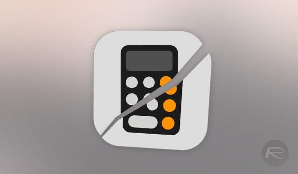 """Ứng dụng """"Máy tính"""" trên iOS 11.1 đang bị lỗi nghiêm trọng. Nguồn: redmondpie"""
