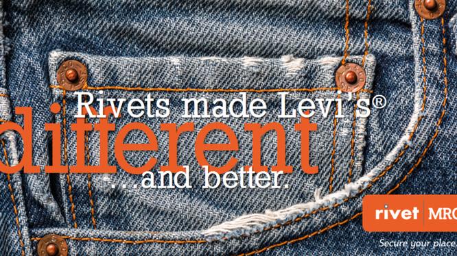 Đinh tán trên túi quần Jean có nguồn gốc từ bộ đồ lao động của những người thợ mỏ. Nguồn: Rivert MRO