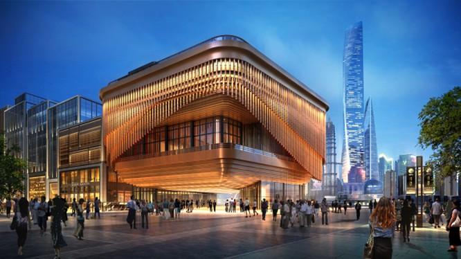 Vẻ đẹp lộng lẫy về đêm của rạp hát Fosun Foundation, Thượng Hải. Nguồn: Fosun Foundation