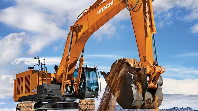 Máy xây dựng góp phần rất quan trọng vào việc rút ngắn thời gian thi công. (ảnh: Hitachi)