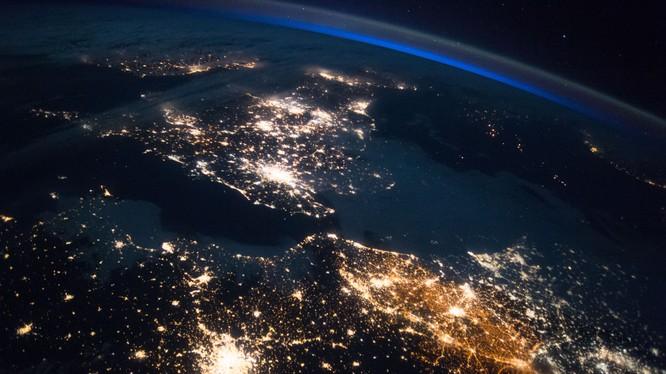 Hình ảnh Vương quốc Anh ban đêm được ghi lại từ trạm ISS. Nguồn: NASA