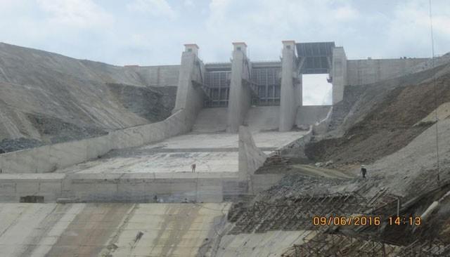 Thủy điện Sông Bung 2 trong giai đoạn xây dựng