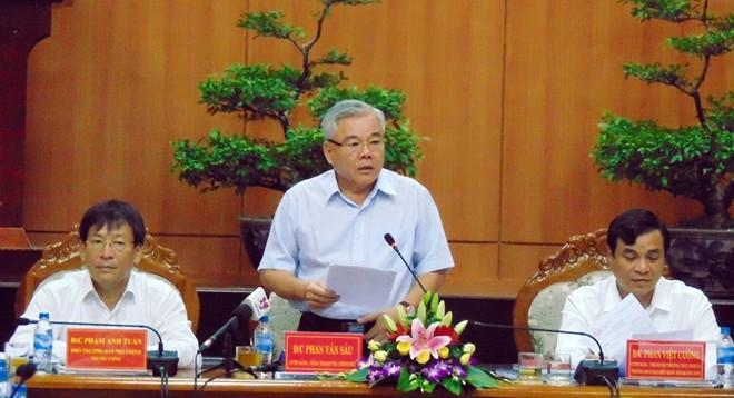 Ông Phan Văn Sáu, Tổng Thanh tra Chính phủ, Trưởng Đoàn công tác số 6
