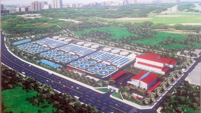 Dự án nhà máy xử lý nước thải với công suất 270 nghìn m3/ngày đêm.