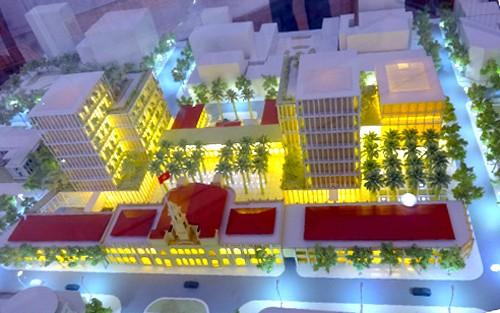 Phương án thiết kế Trung tâm hành chính TP HCM được chọn vào tháng 10/2015.