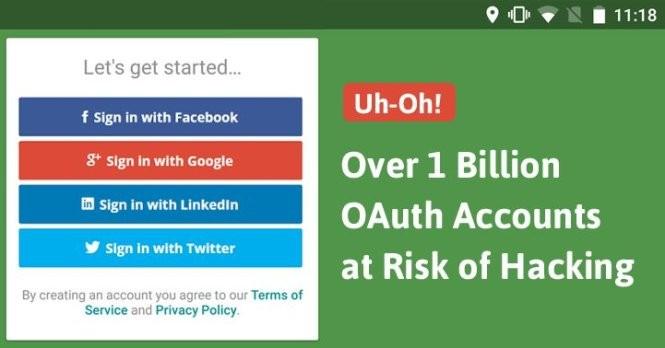 Hơn 1 tỉ tài khoản ứng dụng di động có thể bị xâm nhập dễ dàng. - Ảnh: The Hacker News
