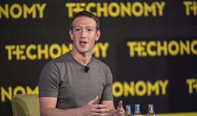 Nhà sáng lập Facebook Mark Zuckerberg. (Nguồn: Bloomberg)