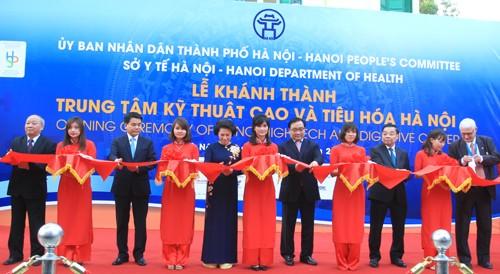 Buổi lễ khánh thành Trung tâm kỹ thuật cao và tiêu hóa, BV Xanh Pôn HN