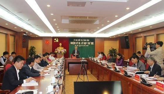 Ủy ban Kiểm tra Trung ương họp kỳ thứ 8 - Ảnh: ubkttw.vn