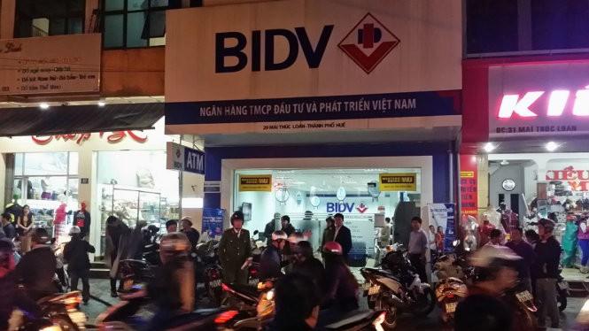 Vụ cướp chi nhánh ngân hàng BIDV ở Thừa Thiên - Huế.