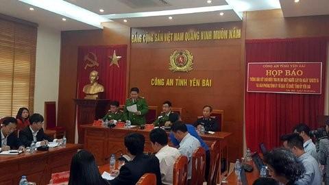Công an tỉnh Yên Bái tổ chức họp báo thông báo kết quả điều tra vụ án sát hại Bí Thư tỉnh ủy và Chủ tịch HĐND tỉnh Yên Bái