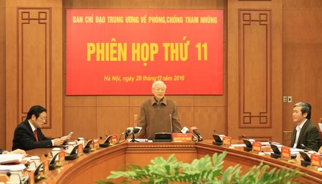 Tổng Bí thư Nguyễn Phú Trọng phát biểu kết luận phiên họp