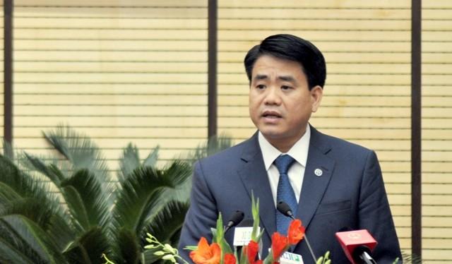 Chủ tịch UBND TP Hà Nội, Nguyễn Đức Chung.