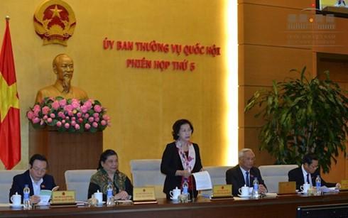 Tại phiên họp thứ 5 UBTVQH, Chủ tịch Quốc hội cho biết Chính phủ đề nghị lùi thời gian trình để nghiên cứu, chuẩn bị dự thảo Nghị quyết