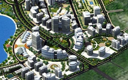 Phối cảnh Dự án Công viên phần mềm có tổng mức đầu tư khoảng 24.000 tỷ đồng.