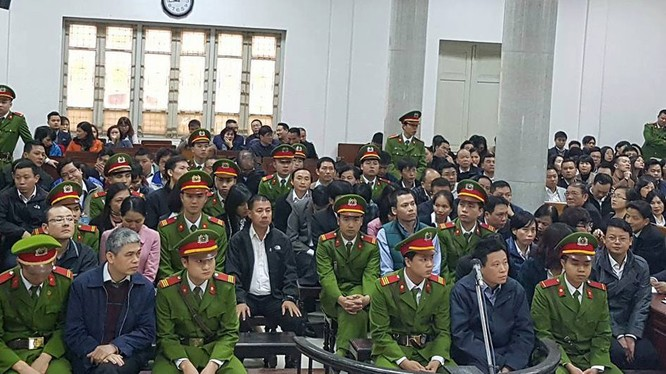 Phiên tòa xét xử Hà Văn Thắm và các bị cáo liên quan.