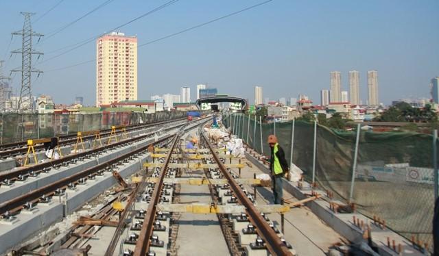 Tuyến Cát Linh - Hà Đông đã hoàn thành 90% xây lắp.