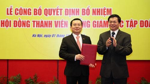 Ông Nguyễn Quốc Khánh trong một buổi lễ công bố quyết định bổ nhiệm chức vụ
